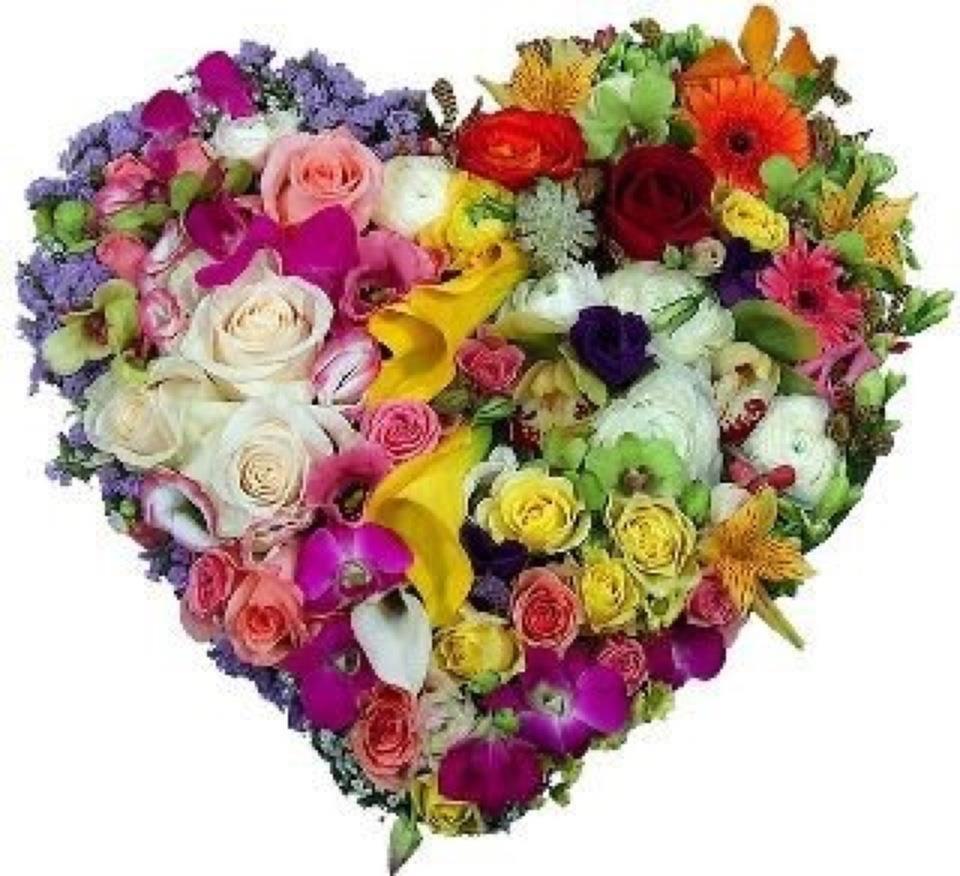 Картинки сердечки из цветов 1